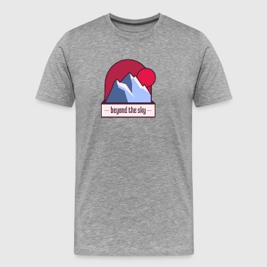Nepal Mountain Beyond the Sky - Men's Premium T-Shirt