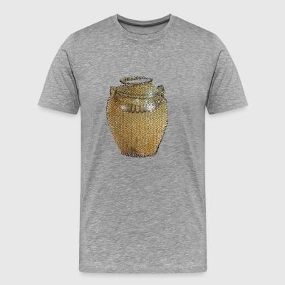 Edgfield Pottery Storage Jar Mosaic Design - Men's Premium T-Shirt