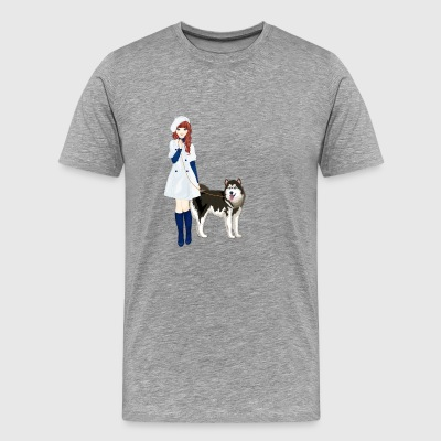 Alexandra and Tilus the husky - Men's Premium T-Shirt