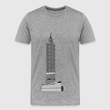 Taipei tower skyscrapers - Men's Premium T-Shirt