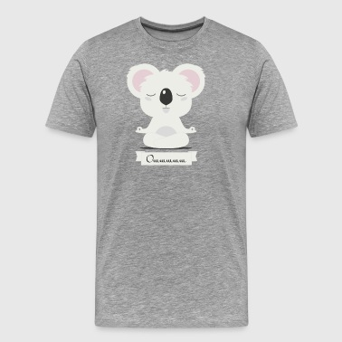 yoga koala meditates - Men's Premium T-Shirt