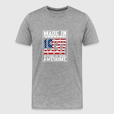 Made in 1937 80 Years of being awesome - Men's Premium T-Shirt