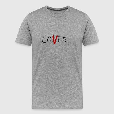 black red loser and lover logo - Men's Premium T-Shirt