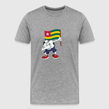 Togo Dabbing Soccer Ball - Men's Premium T-Shirt