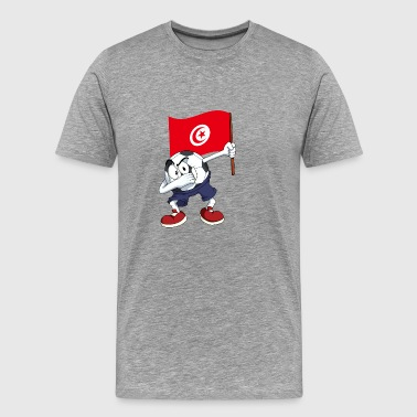 Tunisia Dabbing Soccer Ball - Men's Premium T-Shirt