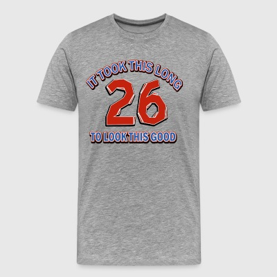 26th birthday design - Men's Premium T-Shirt
