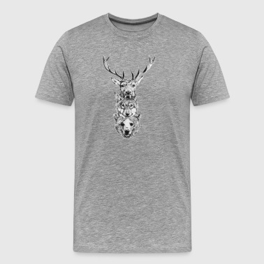 Dear-Wolf-Bear - Men's Premium T-Shirt