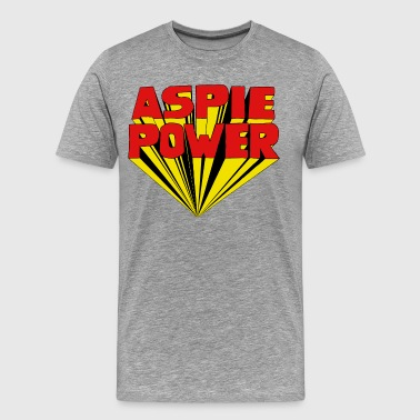 Aspie Power with a 60s 3D twist - Men's Premium T-Shirt