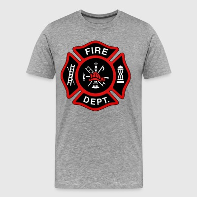 Red Fire Department Badge - Men's Premium T-Shirt