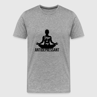 Yoga is my antidepressant - Men's Premium T-Shirt