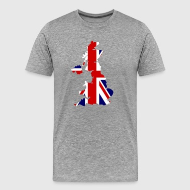 British Flag Map United Kingdom Symbol - Men's Premium T-Shirt
