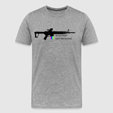 Armed Gays Don't Get Bashed - AR / Horizontal - Men's Premium T-Shirt
