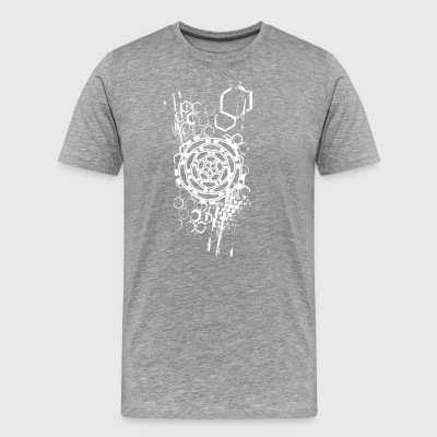 honeycomb flower - Men's Premium T-Shirt
