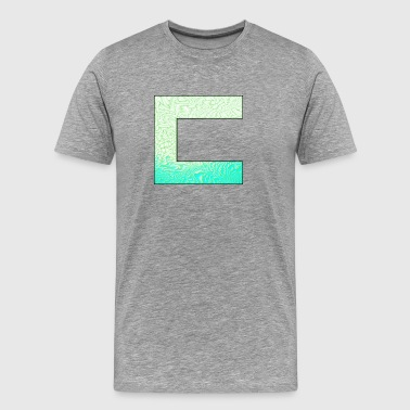 Cass3rz Gaming Logo Abstract - Blue/Green - Men's Premium T-Shirt