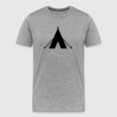 tent - camp - camping fire - Men's Premium T-Shirt