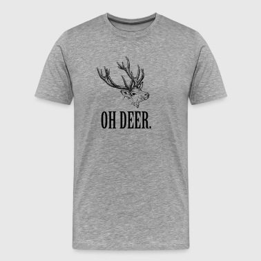 Oh Deer. Oh Dear! - Vintage Design Shirt - Men's Premium T-Shirt