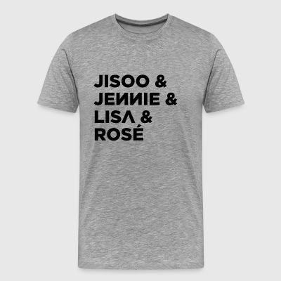 BLACKPINK Members (Black) - Men's Premium T-Shirt