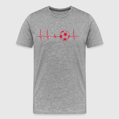 Heartbeat soccer player team cool fun gift funny - Men's Premium T-Shirt