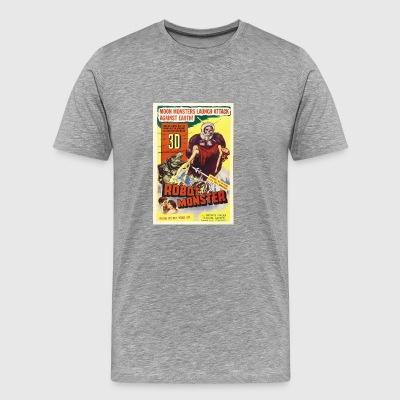 Robot Monster Vintage movie Poster - Men's Premium T-Shirt