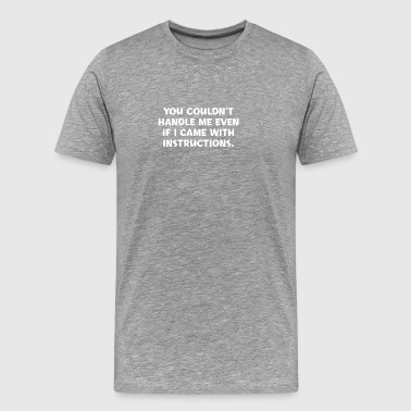 Instructions - Men's Premium T-Shirt