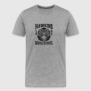 New Design HAWKINS MIDDLE SCHOOL - Men's Premium T-Shirt