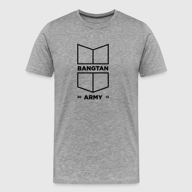 BTS Bangtan A.R.M.Y Shield (Black) - Men's Premium T-Shirt