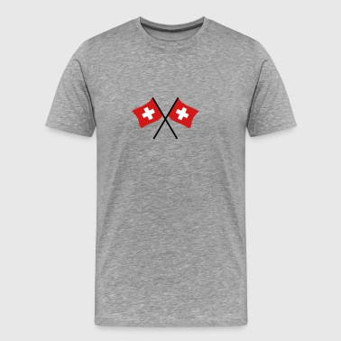 Swiss Flag - Men's Premium T-Shirt