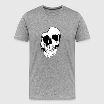 draining skull - Men's Premium T-Shirt