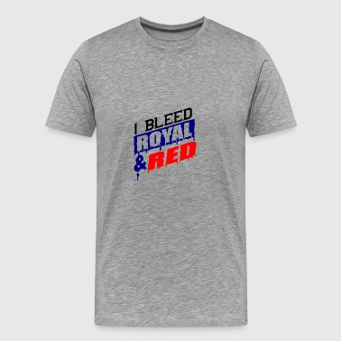 I bleed royal and red - Men's Premium T-Shirt