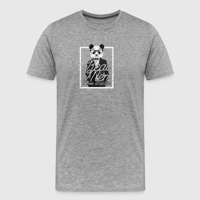 Cool Graphic Panda Bear In A Suit Funny Saying - Men's Premium T-Shirt