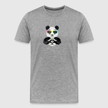 LGBT Panda Bear Love Saying Gay Lesbian Pride - Men's Premium T-Shirt