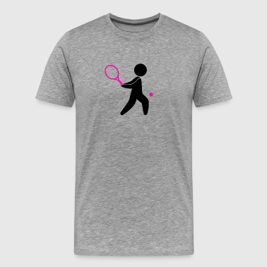 A Tennis Player Plays The Ball - Men's Premium T-Shirt