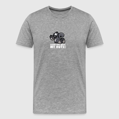 Come play with my nuts funny squirrel - Men's Premium T-Shirt