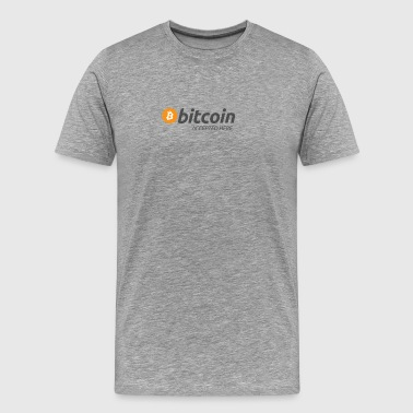 Bitcoin Accepted Here 4800px - Men's Premium T-Shirt