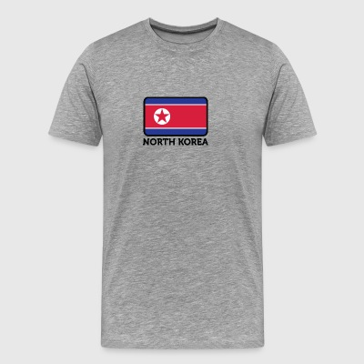 National Flag Of North Korea - Men's Premium T-Shirt