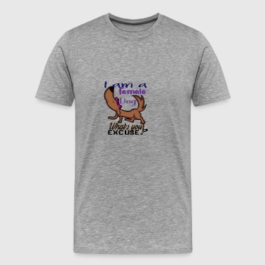 Female dog - get it - Men's Premium T-Shirt