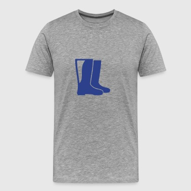 rubber boots - Men's Premium T-Shirt