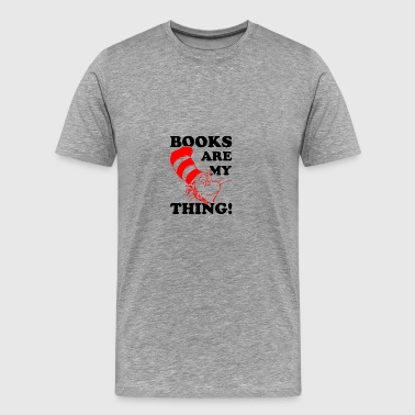 Books Are My Think - Men's Premium T-Shirt