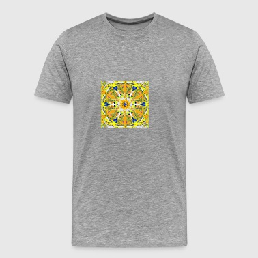 abstract-colorfull-yellow digital painting - Men's Premium T-Shirt