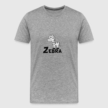 Cartoon Zebra - Men's Premium T-Shirt