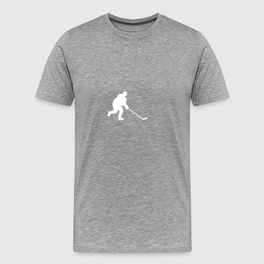 Hockey Player Silhouette - Men's Premium T-Shirt