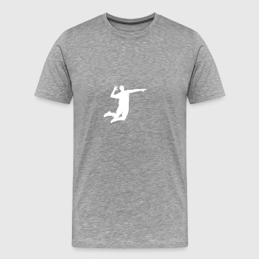 Volleyball Player Silhouette - Men's Premium T-Shirt