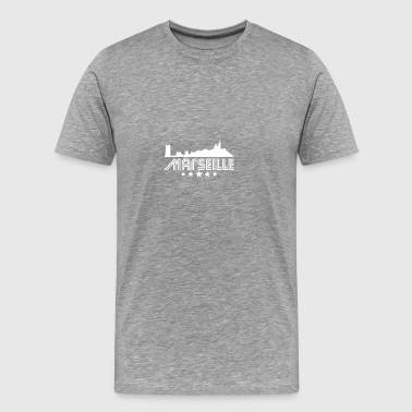 Retro Marseille Skyline - Men's Premium T-Shirt