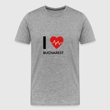 I Love Bucharest - Men's Premium T-Shirt