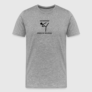Taekwondo Ninja in Training - Men's Premium T-Shirt