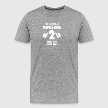 This is what an awesome 2 year old looks like - Men's Premium T-Shirt