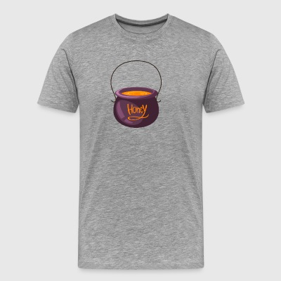 pot of honey sweetness inscription vector cartoon - Men's Premium T-Shirt