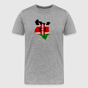 Flag map of Kenya - Men's Premium T-Shirt
