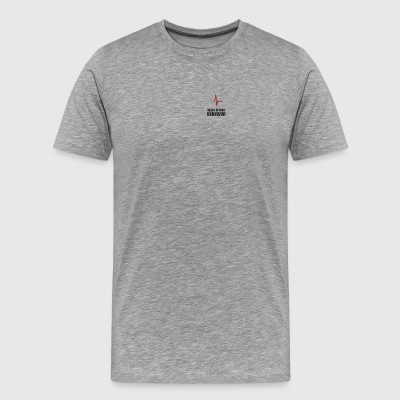 heart attack survivor, - Men's Premium T-Shirt