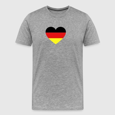 Germany Flag Love Heart Patriotic Symbol - Men's Premium T-Shirt